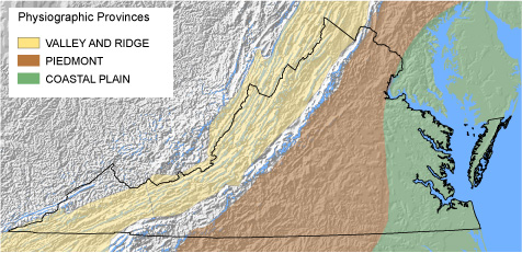 Relief Map Of Virginia.Usgs Virginia Wsc Main Regional Curves Page