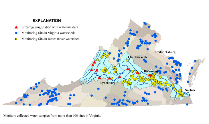 USGS--National Water Quality Monitoring Day: Virginia