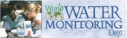 world water monitoring day logo